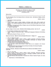Gallery Of Best Criminal Justice Resume Collection From