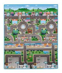 prince lionheart playmat double sided play mat area rug city dinosaur