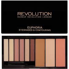 makeup revolution euphoria paleta cieni i zestaw do konturowania twarzy bare 18 g