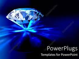 Powerpoint Template Beautiful Sparkling Diamond Piercing Blue