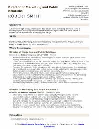 Examples Of Public Relations Resumes Director Of Marketing And Public Relations Resume Samples