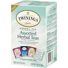 Twinings, Assorted Herbal <b>Teas</b>, <b>Variety Pack</b>, Caffeine Free, 20 <b>Tea</b> ...