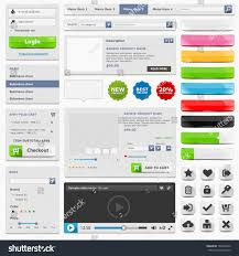 Online Menu Design Software Web Design Elements Set Online Shop Stock Vector Royalty