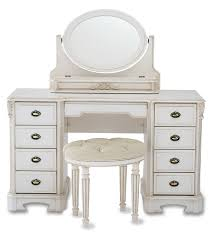 8 drawers vanity tables with oval mirror in white for home furniture ideas