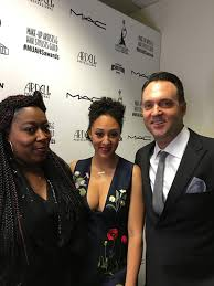 tamera mowry adam housley at the makeup artists hair stylist awards 2016