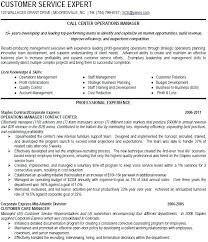 Bank Manager Resume Template Beauteous Sample Operations Manager Resume Call Center Operations Manager