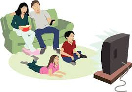 watching tv. family watching tv clip art
