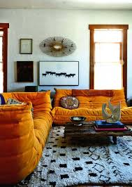 Orange Couch Living Room Elle Decoration August 2015 Shayne Blues Los Angeles Home