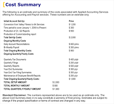 Cost Proposal Templates Sample Business Proposal Templates Doctemplates 28