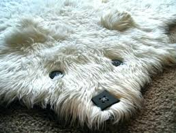 plush animal rug childs
