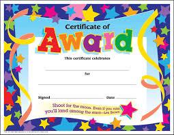 Award Certificate 24 Children's Certificates Of Award Star Pack Large Sticker Stocker 14