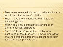 The Periodic Table and Periodic Law. Development of the Modern ...