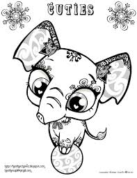 Image Christmas Littlest Pet Shop Coloring Pages Printable