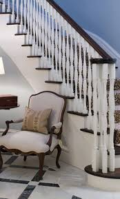 Q with Phoebe: Stair Balusters -- that chair is fantastic!! That pink