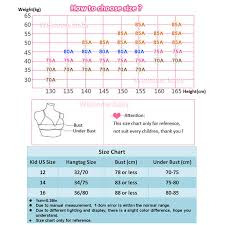 Girls Bra Size Chart Teen Girl Underwear Teenager Girls Training Bras Kids Lingerie Young Puberty Girl Underwear Child Small Bra Teenage Tops Clothes