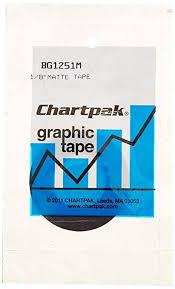 1 8 Chart Tape Chartpak Graphic Chart Tape 1 8 Inch Matte Black Bg1251m