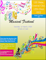 Free Spring Festival Flyer Template Created In Ms Publisher