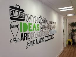 pictures for an office wall. Office Wall Art Branded Vinyl Installed At Matrixapa Pictures For An F