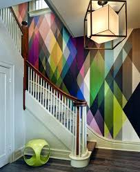 picture frames on staircase wall. Staircase Wall Ideas Abstract Design With Colorful Shapes Art . Picture Frames On