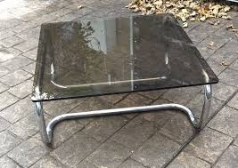 60s 70s chrome smoked glass coffee table rodney kinsman omk vintage modernist 1 of 5 see more