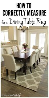 how to correctly measure for a dining room table rug rugs intended area under inspirations 5