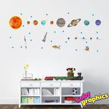 solar system wall decals vinyl stickers