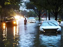 stranded vehicles sit where they got stuck in high water from hurricane harvey in houston texas august 28 2017