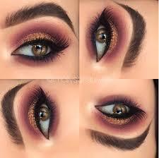 dramatic pink gold glitter eyeshadow makeup look mollysbeautylife