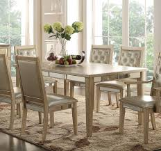 Acme Voeville Leg Dining Table In Antique Gold 61000 By Dining Rooms