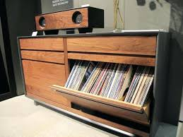 Lp Record Storage Cabinet Wood Exclusive Symbol Audio Console By
