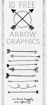 手書きでかわいい矢印のイラストセット デジタルスクラップブッキング