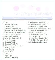 A Printable New Baby Checklist Template For Excel Newborn