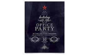 Company Christmas Party Invites Templates Office Holiday Party Flyer Template Design