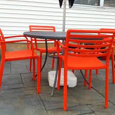 everywhere orange orange patio chairs