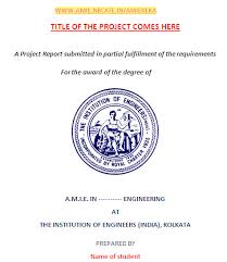 project report front page amie project work format sample download amie nbcafe