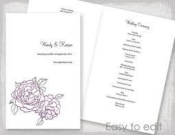 Wedding Ceremony Brochure
