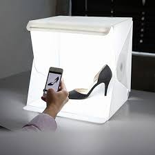 mini led lamp room folding photography studio box lightbox white backdrop cube box led photo light