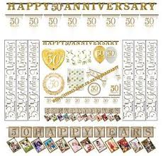 happy anniversary banners happy 50th golden wedding anniversary party banners balloons bunting