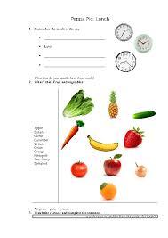135 FREE Fruit and Vegetables Worksheets