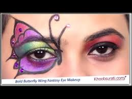 bold erfly wing fantasy eye makeup by khoobsurati