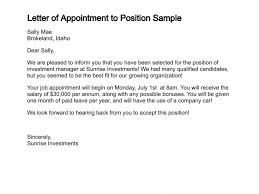 Samples Of Appointment Letter For An Employee Appointment Letter Legal Documents