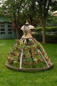 fairy garden pots. Only 29 Days Until Spring Green Dress Made Of Flower Pots Fairy Garden R