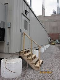 outdoor stairs for a construction trailer