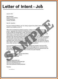 Letter Of Intent For A Job Samples 22 Template Sample Sue