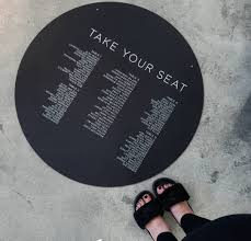 The Shoe Seating Chart