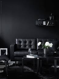 All Black Living Room Dark Decor Images Home Architecture On Modest Ideas  Black And Red Living