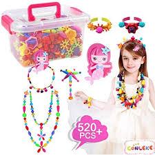 Conleke Pop Snap Beads Set 520 PCS for Kids Toddlers <b>Creative</b> ...