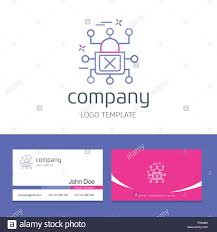 Security Designer Business Card Design With Cyber Security Company Logo Vector