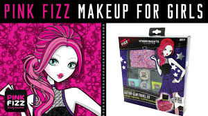 pink fizz makeup for s glittery glam travel kit nail polish glitter