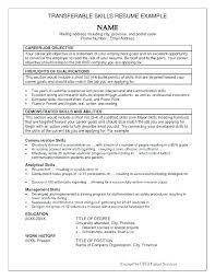 Sample Resume Skills List Emelcotest Com